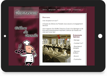 Delices du paradis Website Screenshot