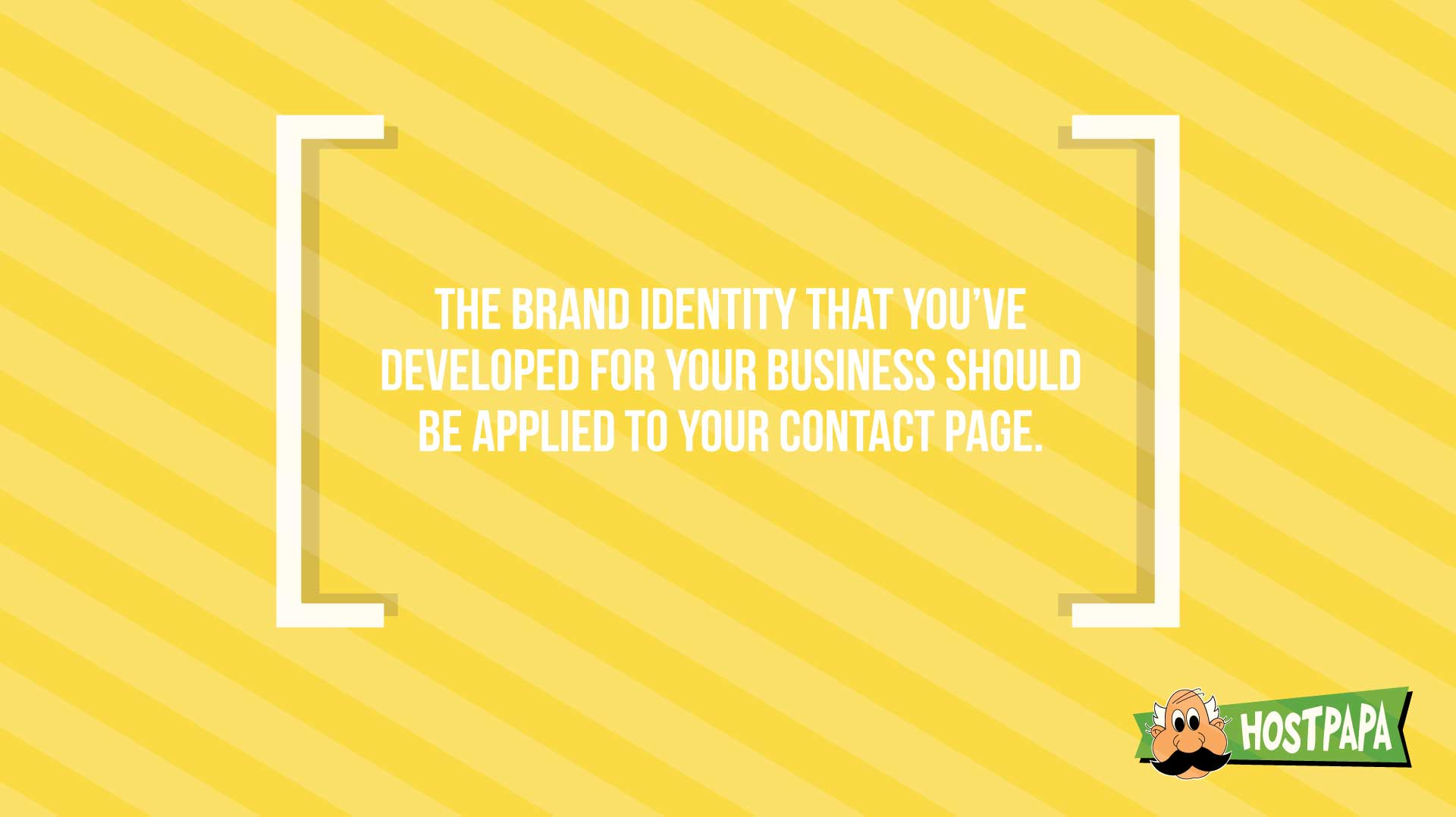 Create a brand identity for you contact page