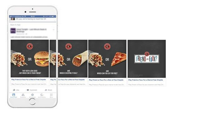 A creative facebook ads could be a carousel