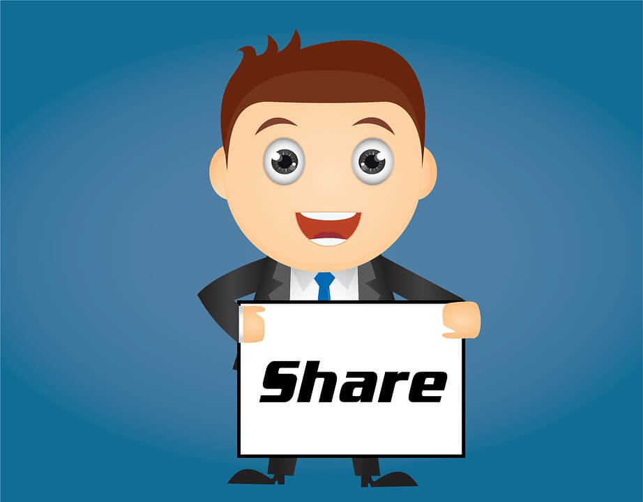 Let your email subscribers to share with others