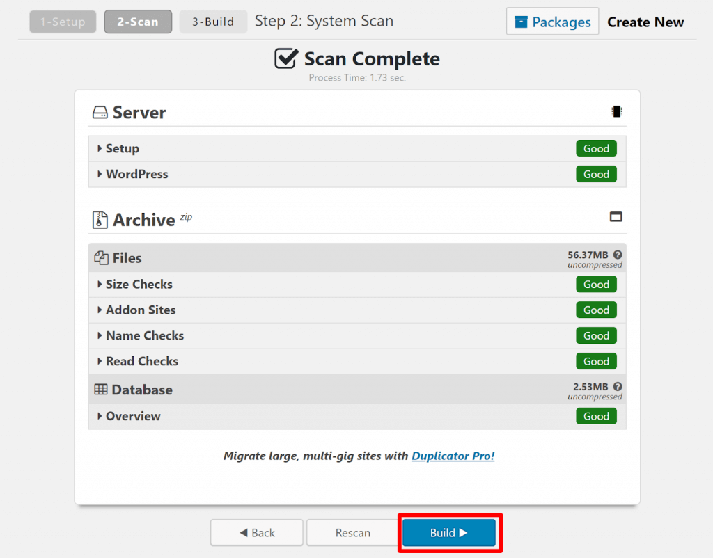 Follow these steps to learn how to Generate a Package for Duplicator to Migrate how to