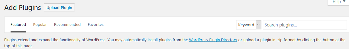 You can also upload plugins to your WordPress