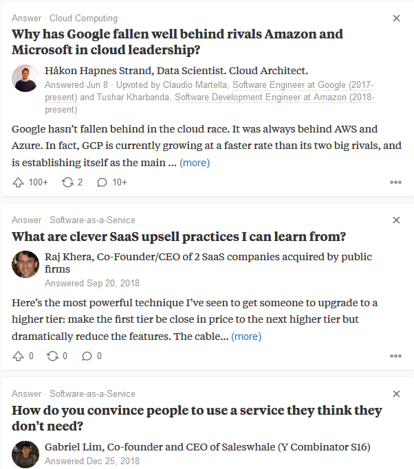 Quora is another great option to find the correct keywords