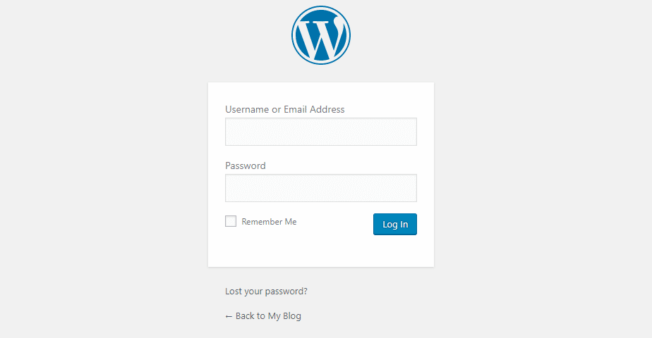 Login to WordPress with the credentials that your hosting service provided you