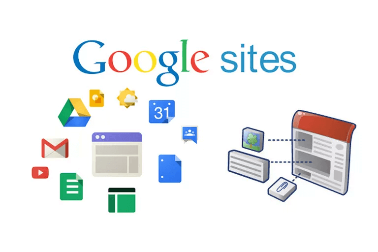 Google sites can help you create small sites