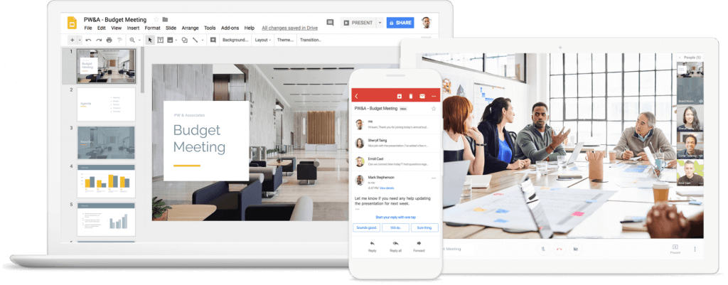 All google tools can help for your business
