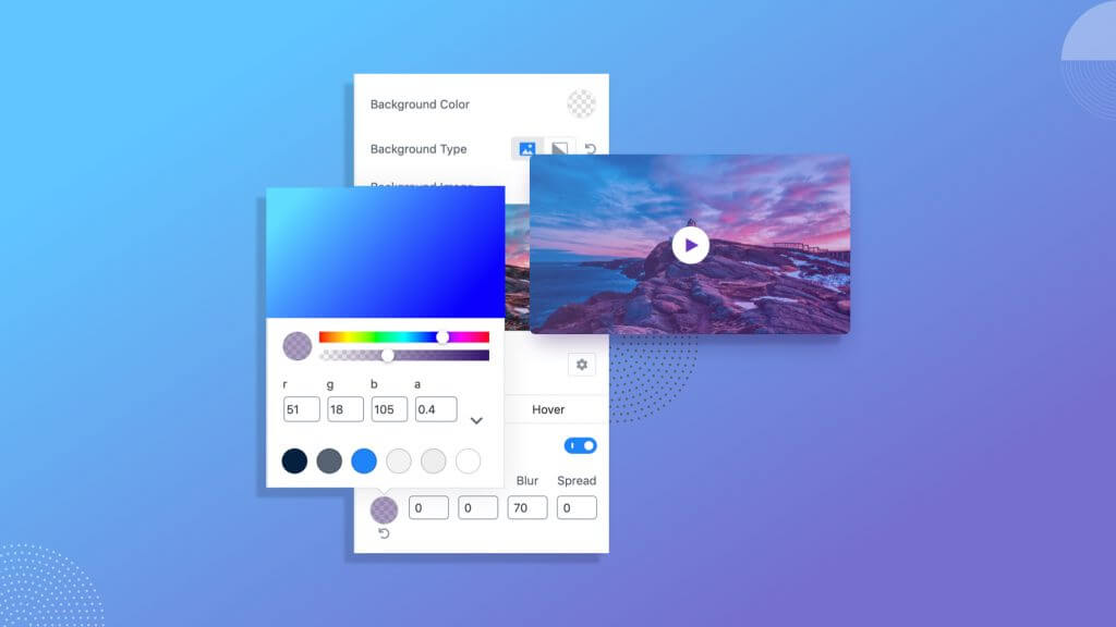Qubely hast the best Classic and Gradient Background Colors for your site