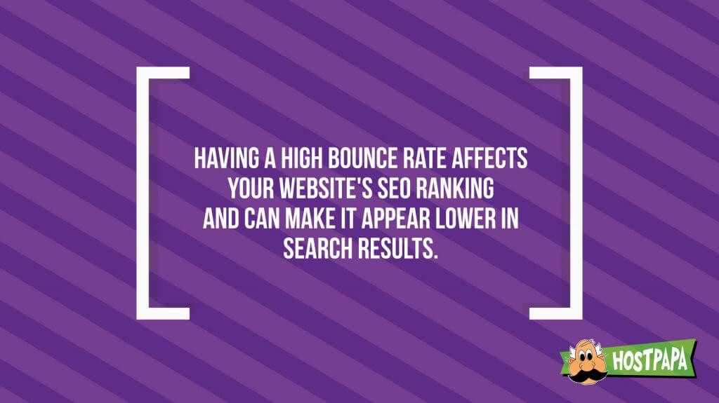 having a high bounce rate affects your website's SEO ranking
