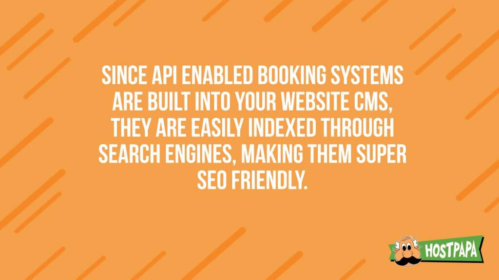 Once API enabled booking systems are built into your website cms