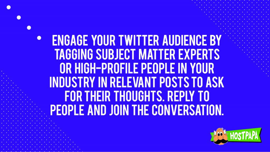 Engage your Twitter audience by tagging subject matter experts