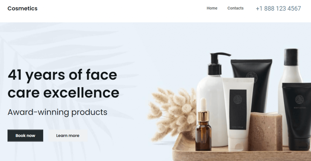 Athens is one of the best Website Builder's themes