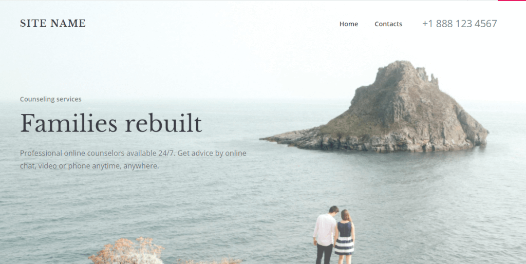 Mesa is one of the favourite Website Builder's theme for wellness sites