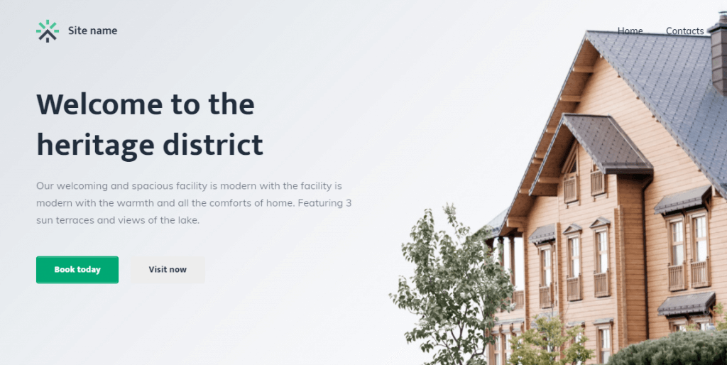 Norfolk is one of the favourite Website Builder's theme