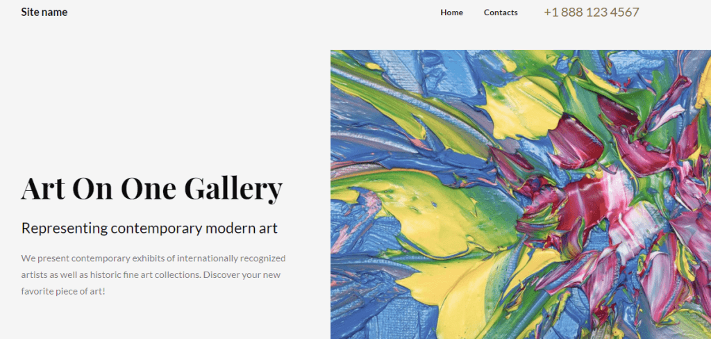 Vancouver is a website builder theme for art blogs