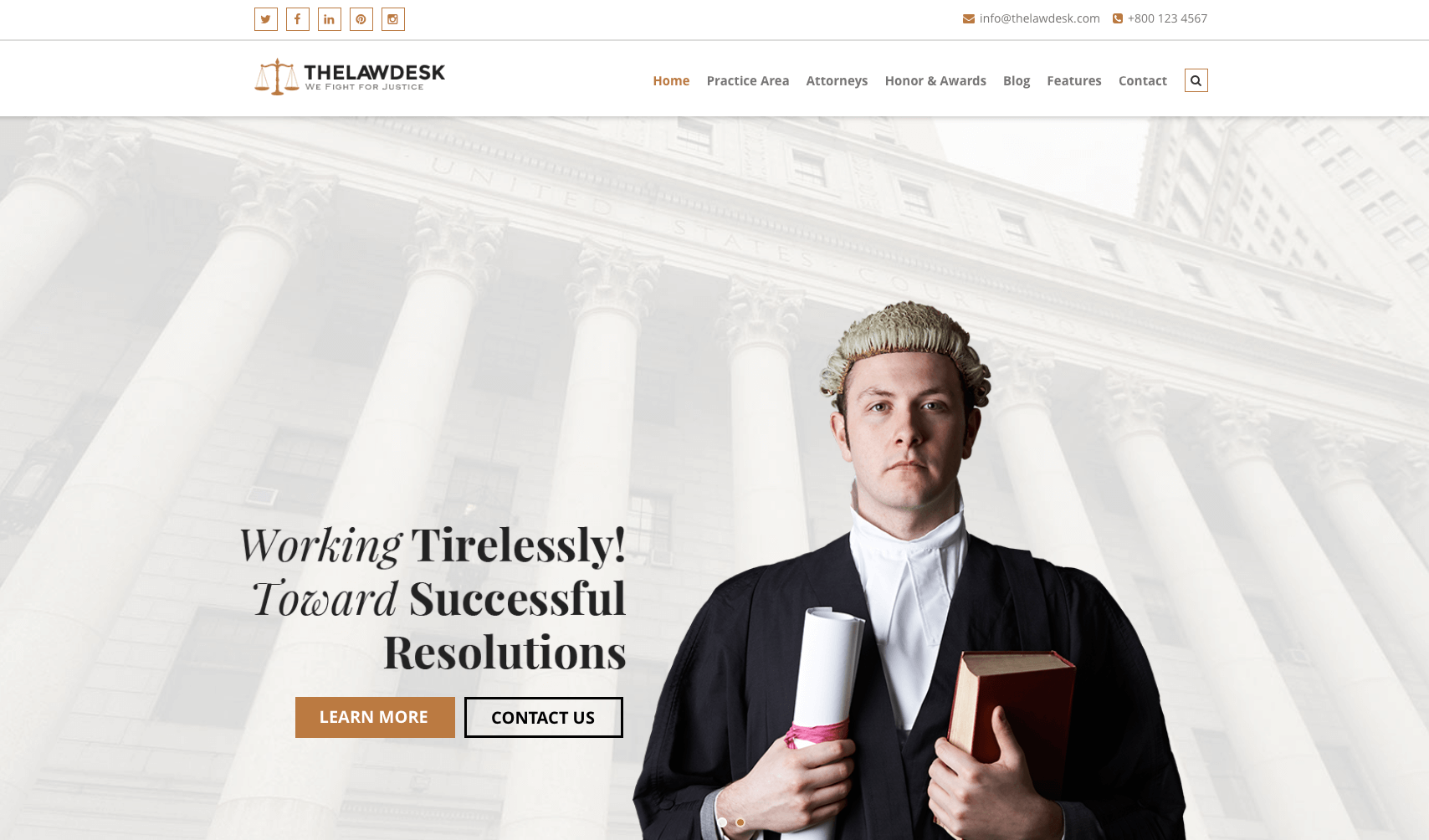 Law Desk - Lawyer Attorney WordPress Theme