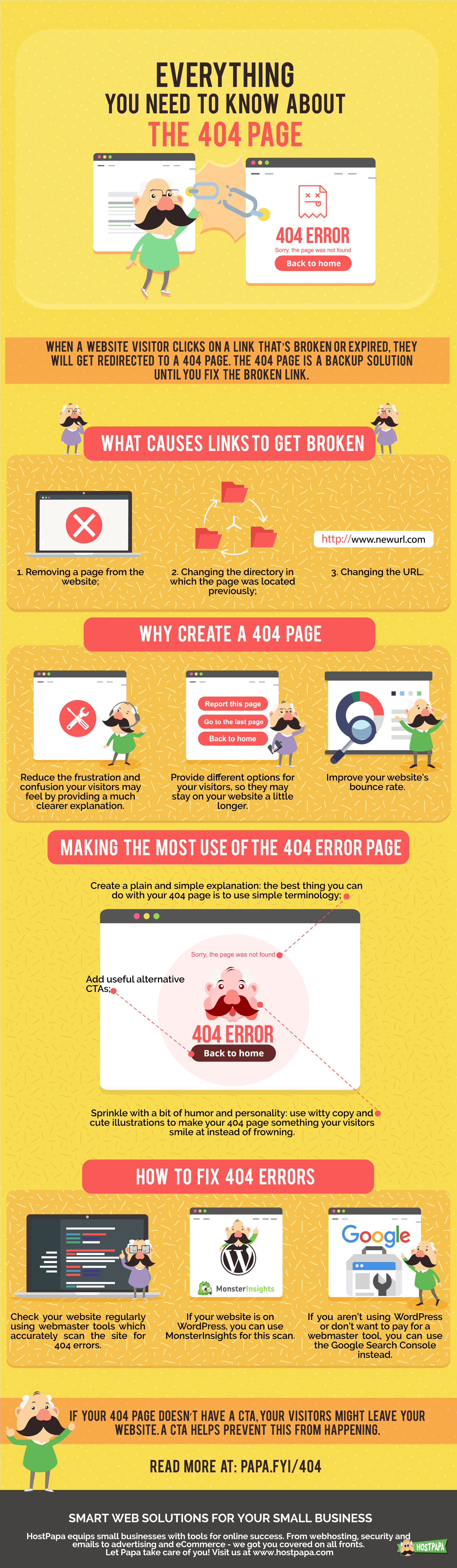 Infographic: The 404 Page - HostPapa Blog