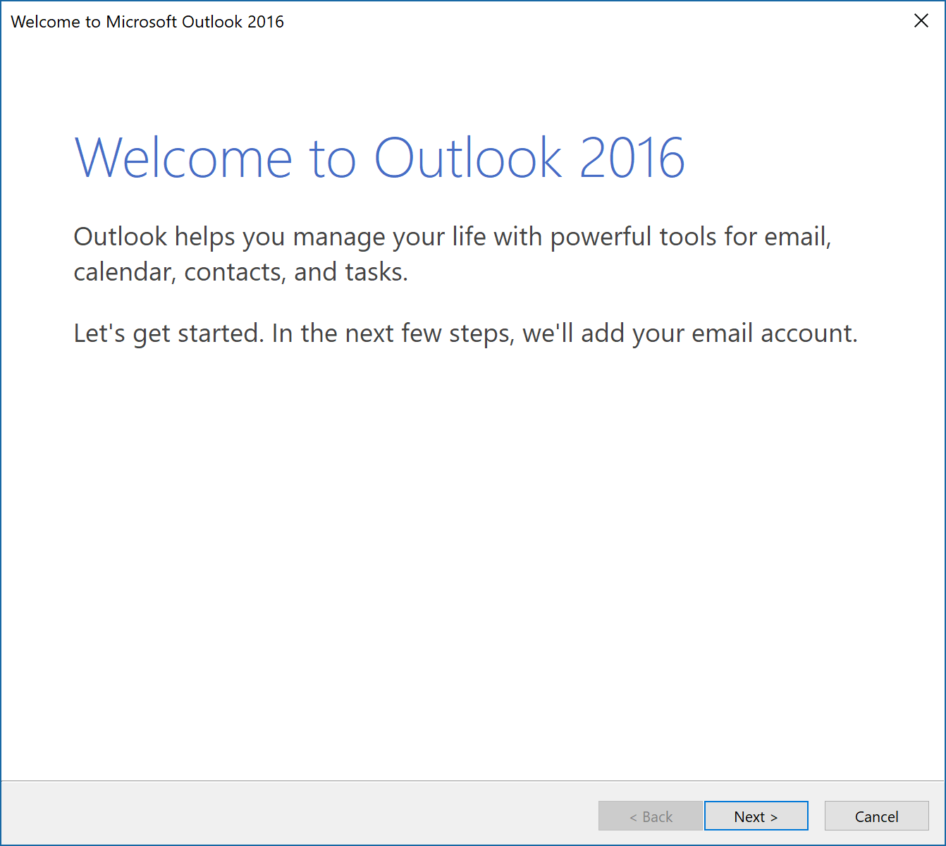 How to set up a POP/IMAP email account in Microsoft Outlook 2016