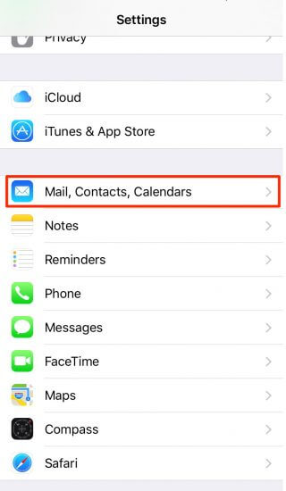 2 - mail contacts calendars