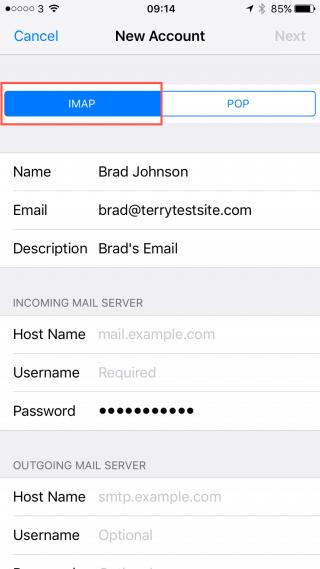 Mail Server Settings