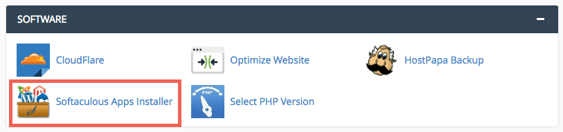 cPanel Software Section