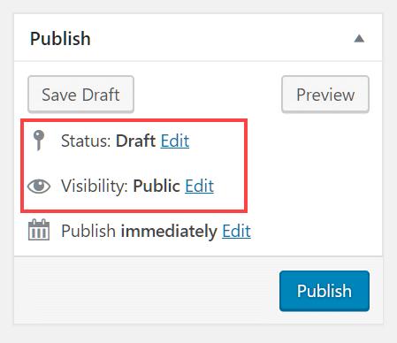 Publishing settings