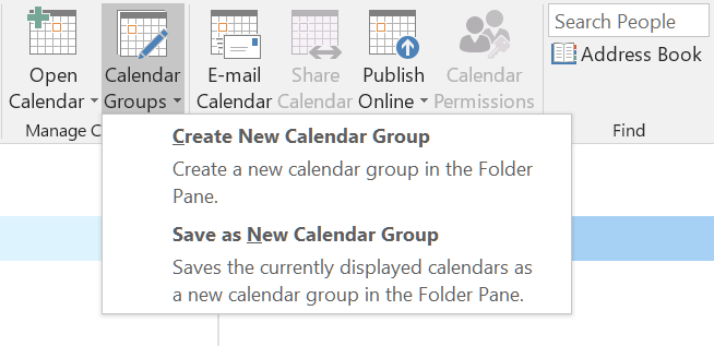 How to create calendar groups in Outlook 2016 - HostPapa