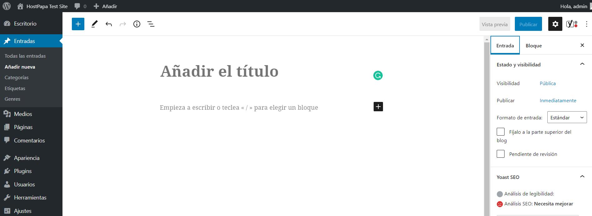 Wordpress dashboard 5